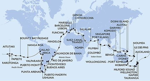 MSC World Cruise 2020